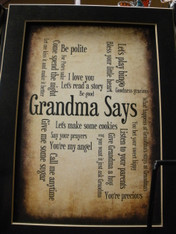 Grandma Says Print