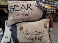 Pillow ~ Advice From A Bear