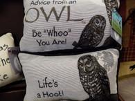 Pillow ~ Advice From An Owl