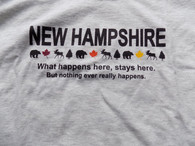 tshirt - What happens here, stays here......Size adult medium