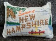 New Hampshire souvenir pillow
