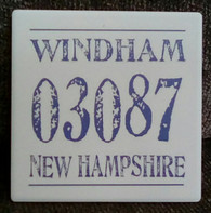 Windham 03087 New Hampshire tile coaster