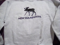 NH Moose Sweatshirt Youth Large (10-14)/