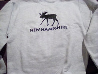 NH Moose Sweatshirt adult size small