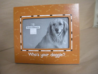 Wood Frame for a 4x6 picture. Who's your Doggie?