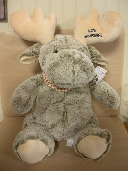 Large Plush New Hampshire Moose ~ Very Soft.