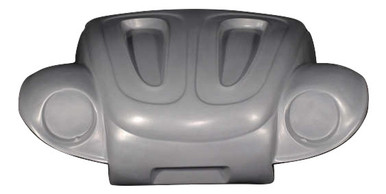 K108 1949-1977 VW Beetle Deluxe Broad Eye One Piece Front End Recessed Hood, Not Super Beetles