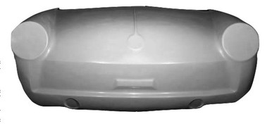 K112 1961-1973 VW Fastback, Notchback, Squareback One Piece Front End, Stock-Designed to Use 1967 & Later Headlight Assemblies
