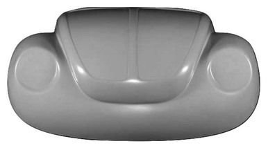 K116 1973-1979 VW Super Beetle Stock One Piece Front End NO Cutting of Vehicle Metal Needed