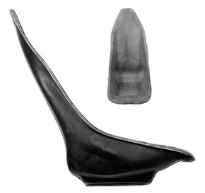 Seat B - Universal Fiberglass Highback Wedge Seat Shell Only