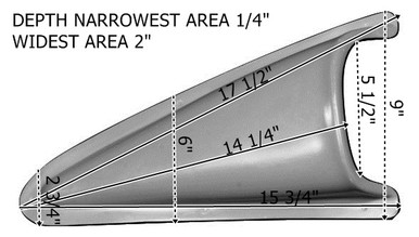 SC100 1949-1977 VW Beetle and 1971-1979 Super Beetle Rear Side Scoops-Pair With Measurements