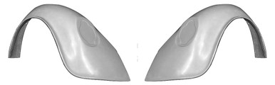 "F300F 1949-1977 VW Beetle and 1971-1979 VW Super Beetle FLARED 1 1/2"" Wider Than Stock Rear Fenders, Indentions are for 1973-1979 Tail Lights-PAIR"