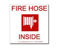 Fire Hose Inside Label w/ Hose Reel Graphic