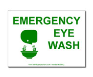 Photograph of the Emergency Eye Wash Sign/Label.