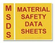 Photograph of the MSDS Binder Spine And Cover Label Set.