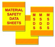 3 Piece MSDS Binder Cover Kit