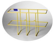 Photograph of the yellow Rigid PVC Coated Steel Wire 3-Ring Binder Rack.