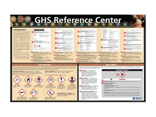 Photograph of the GHS Reference Center Poster.