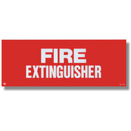"Self-adhesive extinguisher sign, 12"" w x 4.5"" h vinyl"
