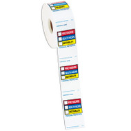 Photograph of the Right To Know Labels On a Roll.