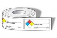 NFPA Chemical Name Labels w/ Owner and Date, 500/Roll