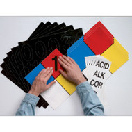 Photograph of kit being used to create and personalize NFPA safety sign.