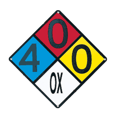 Drawing of NFPA sign with custom numbers in place.