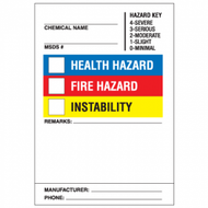 "10"" x 7"" Super Sticky HazCom Labels , 25/Pkg"