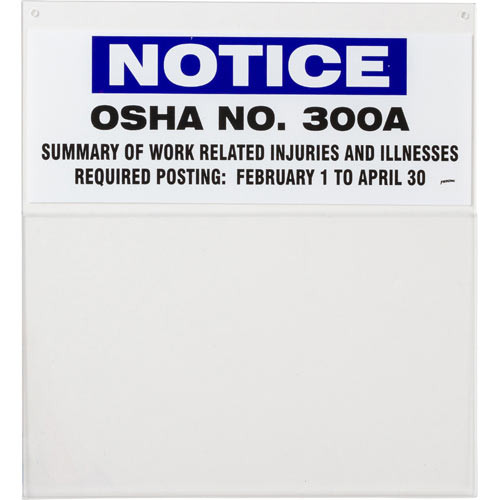 Photograph of blank Notice 300A information board.