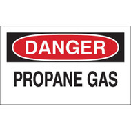 Gas Cylinder Labels - DANGER Propane Gas, 10/Pkg