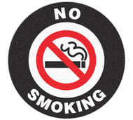 A photograph of a 05225 anti-slip safety floor markers, no smoking w/graphic .