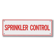 "Sprinkler Control Aluminum Sprinkler Identification Sign, 6""w x 2""h"