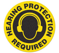 Anti-Slip Safety Floor Markers, Hearing Protection Required