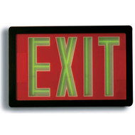 Picture of the Self-luminous Tritium-powered Exit Sign with a Black frame.