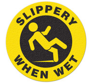Anti-Slip Safety Floor Markers, Slippery When Wet
