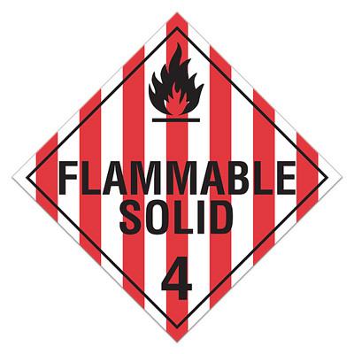 "Dangerous When Wet 4 DOT Hazardous Materials Vehicle Placard 10.75/""x10.75/"""