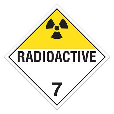 Dot Hazardous Material Placards Class 7 Radioactive