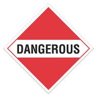 DOT Hazardous Material Placards, Dangerous, For Mixed Loads