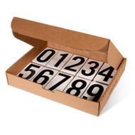 """Vinyl Single Numbers and Kits for DOT Placards, 3.5"""" h, 50/pkg"""