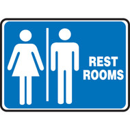 Restroom Signs w/ Male and Female Graphics