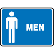 Restroom Signs, MEN w/ Male Graphic