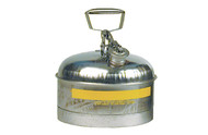 A photograph of a 02110 eagle type i stainless steel safety, with 2.5 gallon capacity.