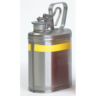 A photograph of a 02124 eagle stainless steel laboratory safety can, with 1 gallon capacity.