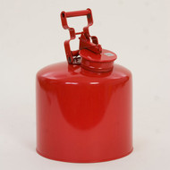 A photograph of a 02127 galvanized red metal eagle disposal safety can, with 5 gallon  capacity.