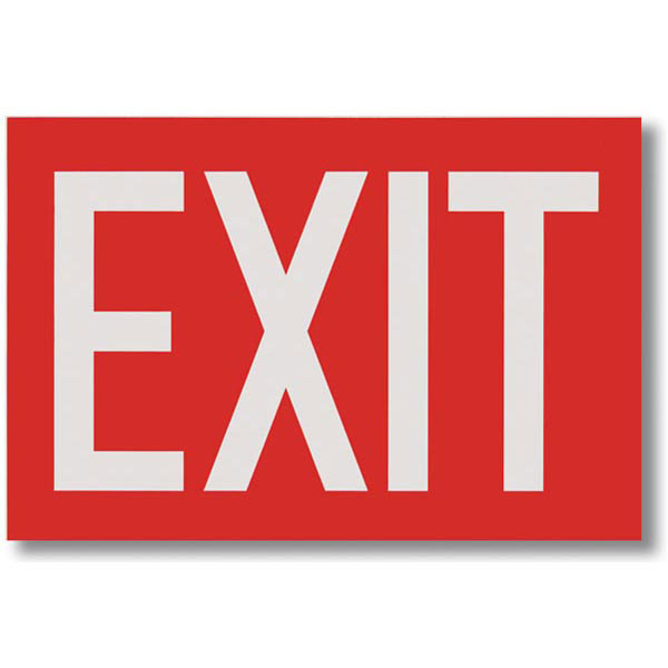 Exit Signs White Lettering On Red Background 12 W X 8 H Safety Emporium