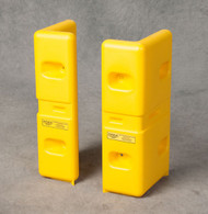 """A photograph of yellow 02241 eagle corner protectors, set of two 21"""" height."""
