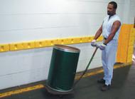 A photograph of yellow 02242 eagle wall protectors installed along wall at facility.