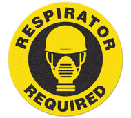 Anti-Slip Safety Floor Markers, Respirator Required w/graphic