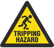 Anti-Slip Safety Floor Markers, Tripping Hazard w/graphic