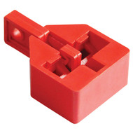 A photograph of a red 07045 zing snap-on multi-pole breaker lockout.